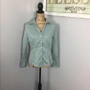 Banana Republic M Stretch seafoam button shirt